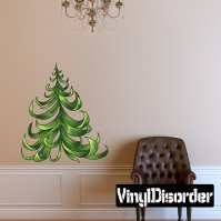 Buy Christmas Tree Vinyl Wall Decal Or Car Sticker ...