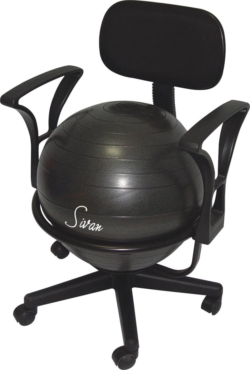 Ball Chair Sivan Health And Fitness Adjustable Back Balance Ball Chair With Arm Rests Ball And Pump