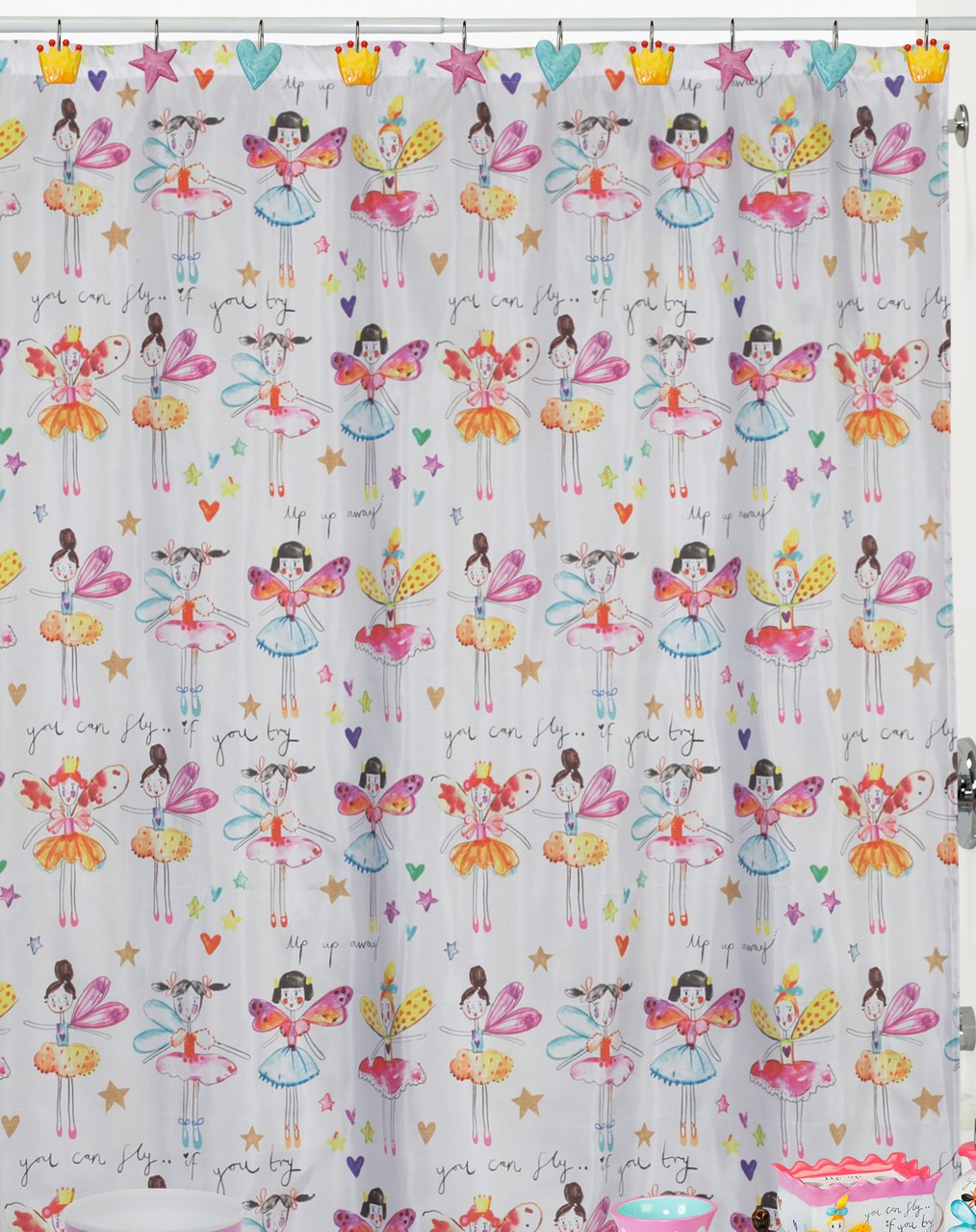 Shower Curtains For Less Fairy Princess Shower Curtain