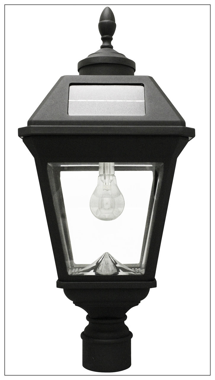 Solar Lamp Post Solar Pillar Lantern With Led Light Bulb Imperial With 3