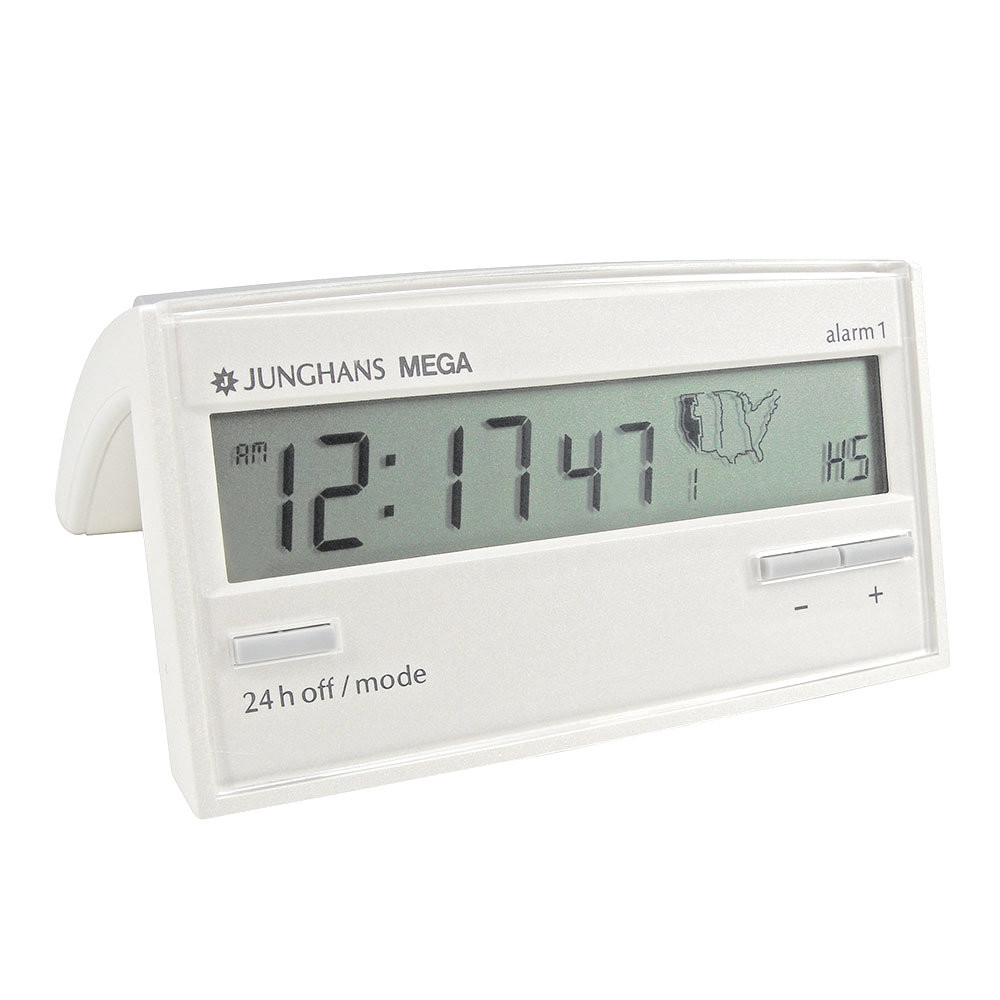 Digital Clock Junghans 170 1002 00 Atomic Alarm Clock White