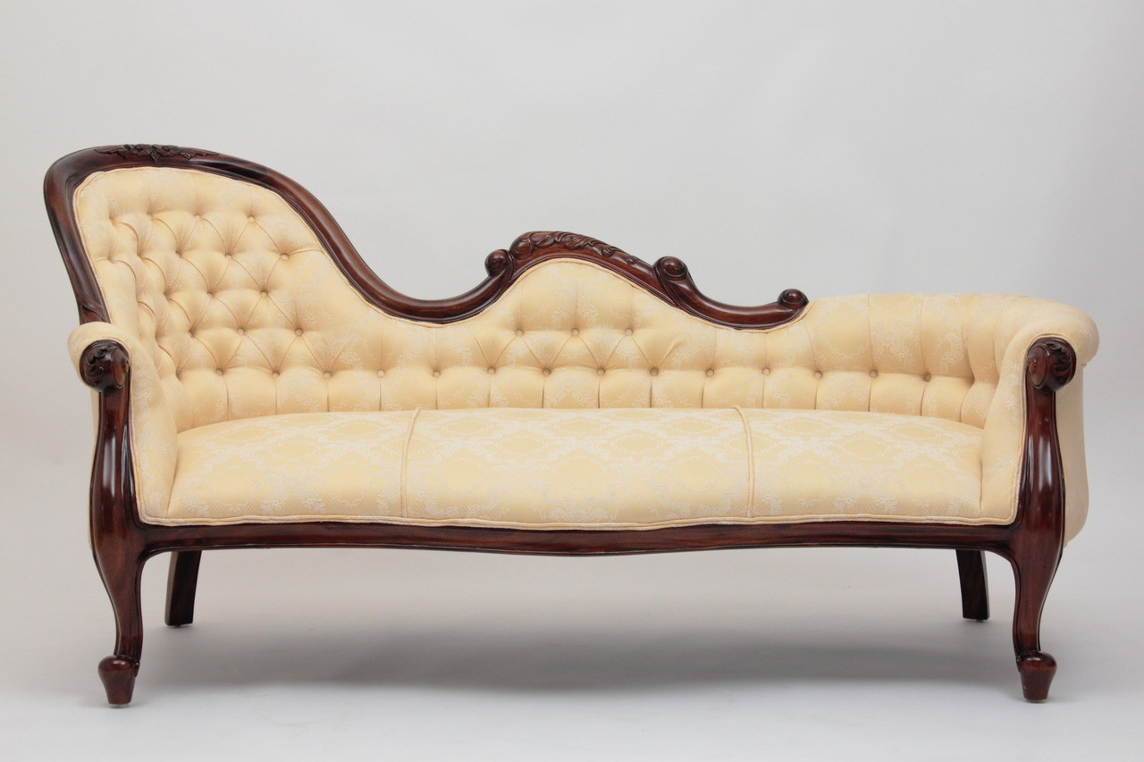 Furniture Chaise Victorian Style Chaise Lounge