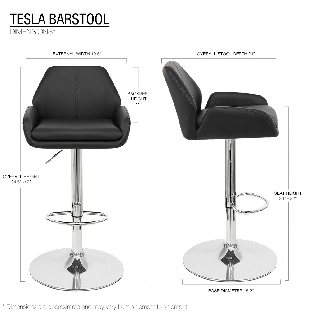 28 Barstools Set Of 4 Tesla Contemporary
