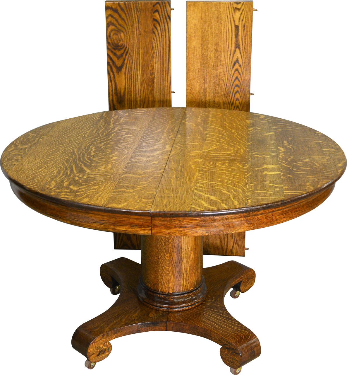 Round Oak Dining Table 19554 Antique Round Oak Empire Dining Table