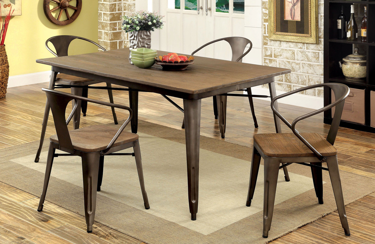 Small Dining Table Coachella Industrial Natural Elm Dining Table Set