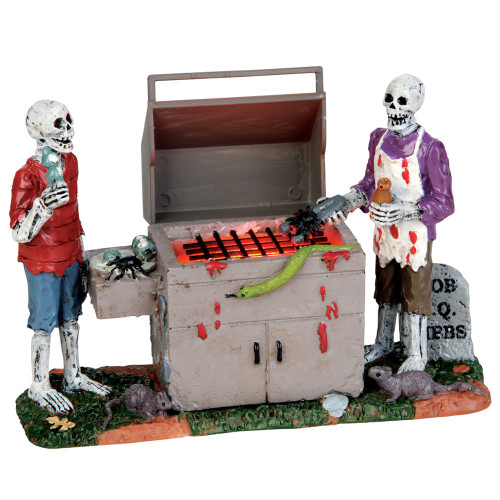 Lemax Gory Grillin 39 Witches Of Halloween - Lemax Grill