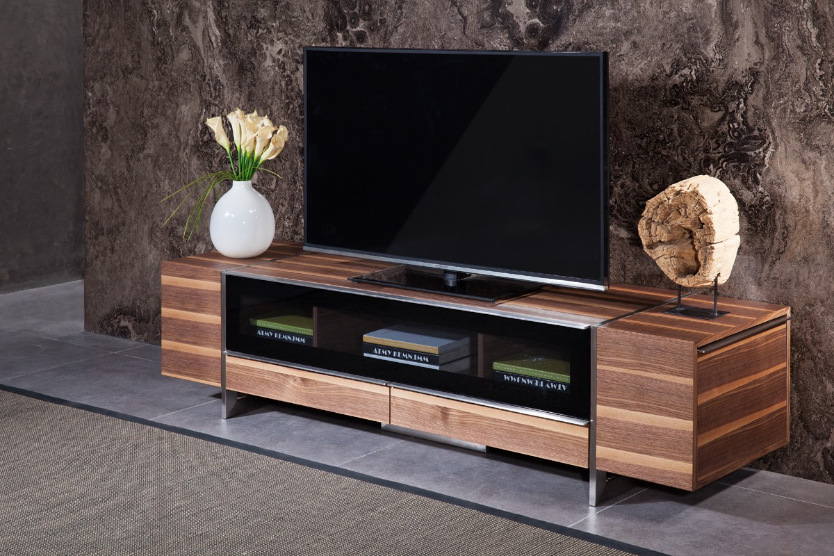 Modern Tv Igor Modern Walnut Tv Stand