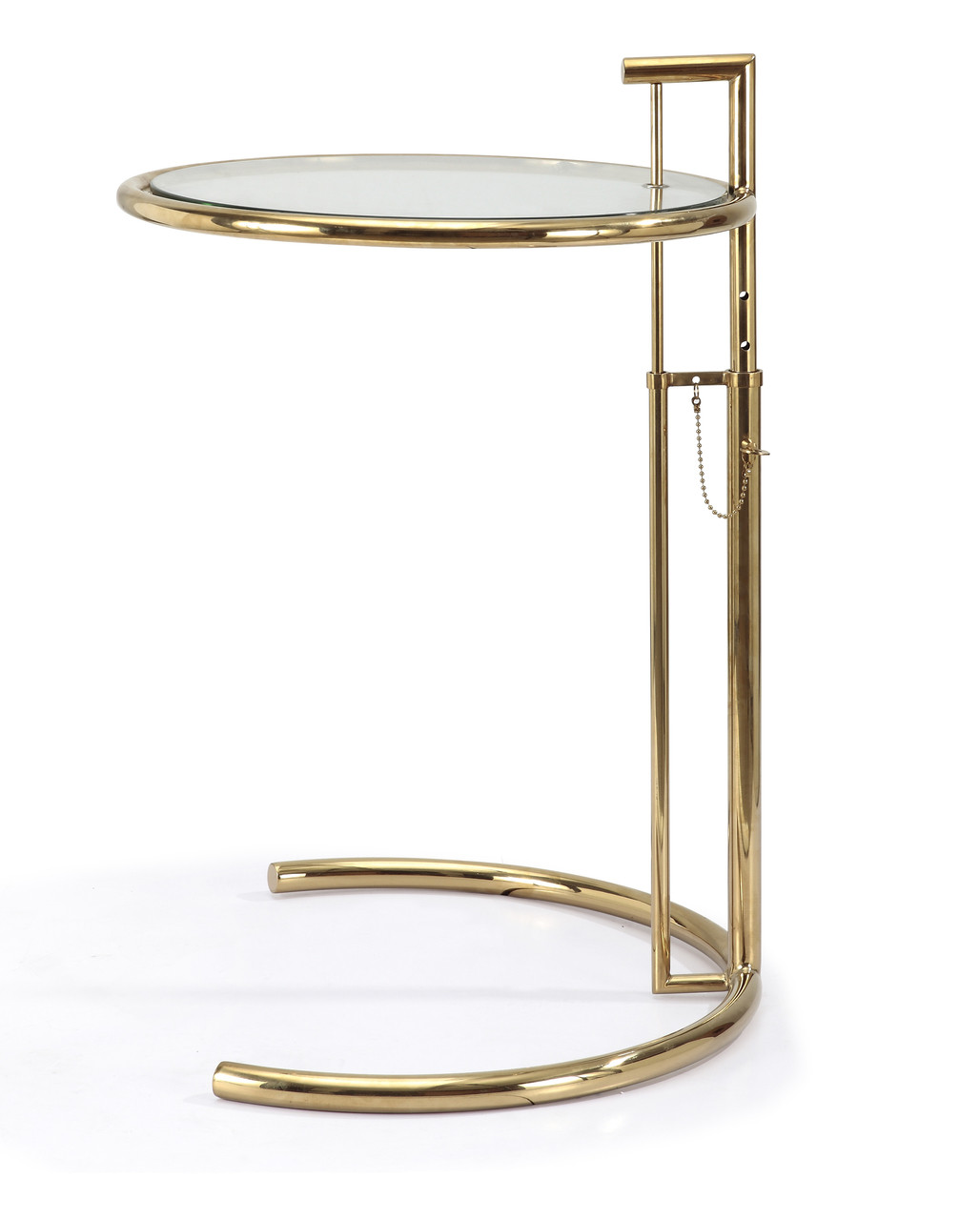 Eileen Gray Table Eileen Gray Side Table In Gold Finish