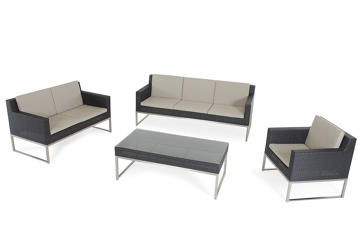 Rattan Sofa Fakistra Black Rattan Sofa Set