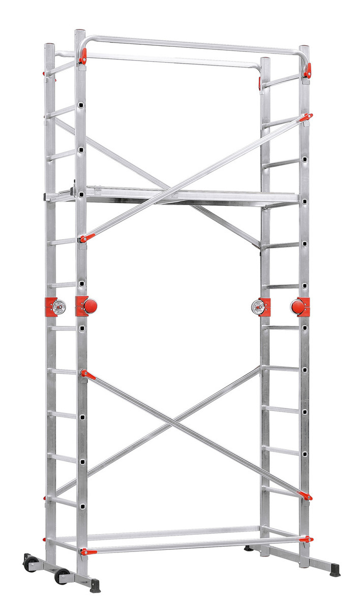 Hailo Profistep 3x12 Aluminium Multifunction Scaffold Ladder Combination 2x12 Rungs