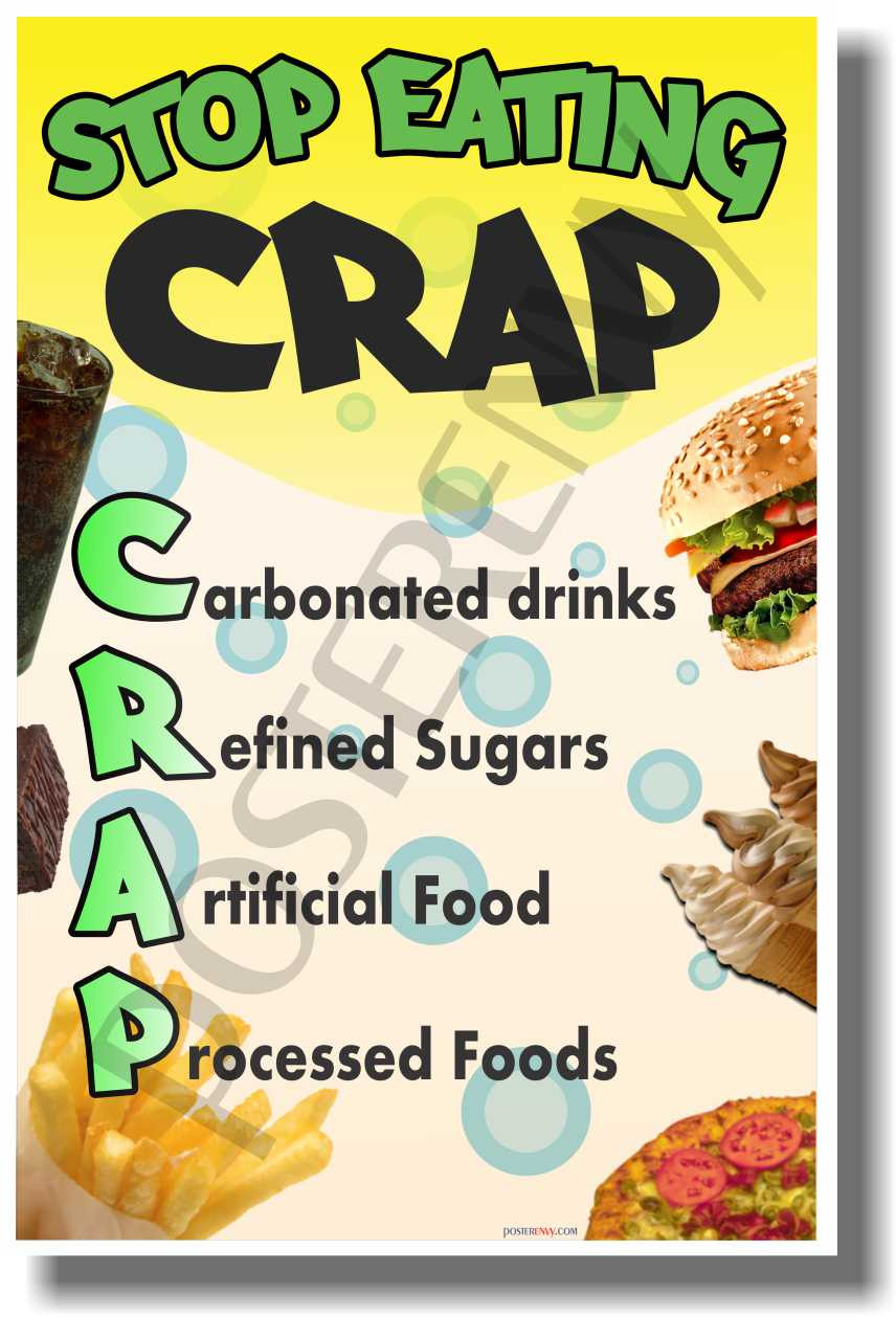 Poster Cuisine Stop Eating Crap New Health And Nutrition Poster