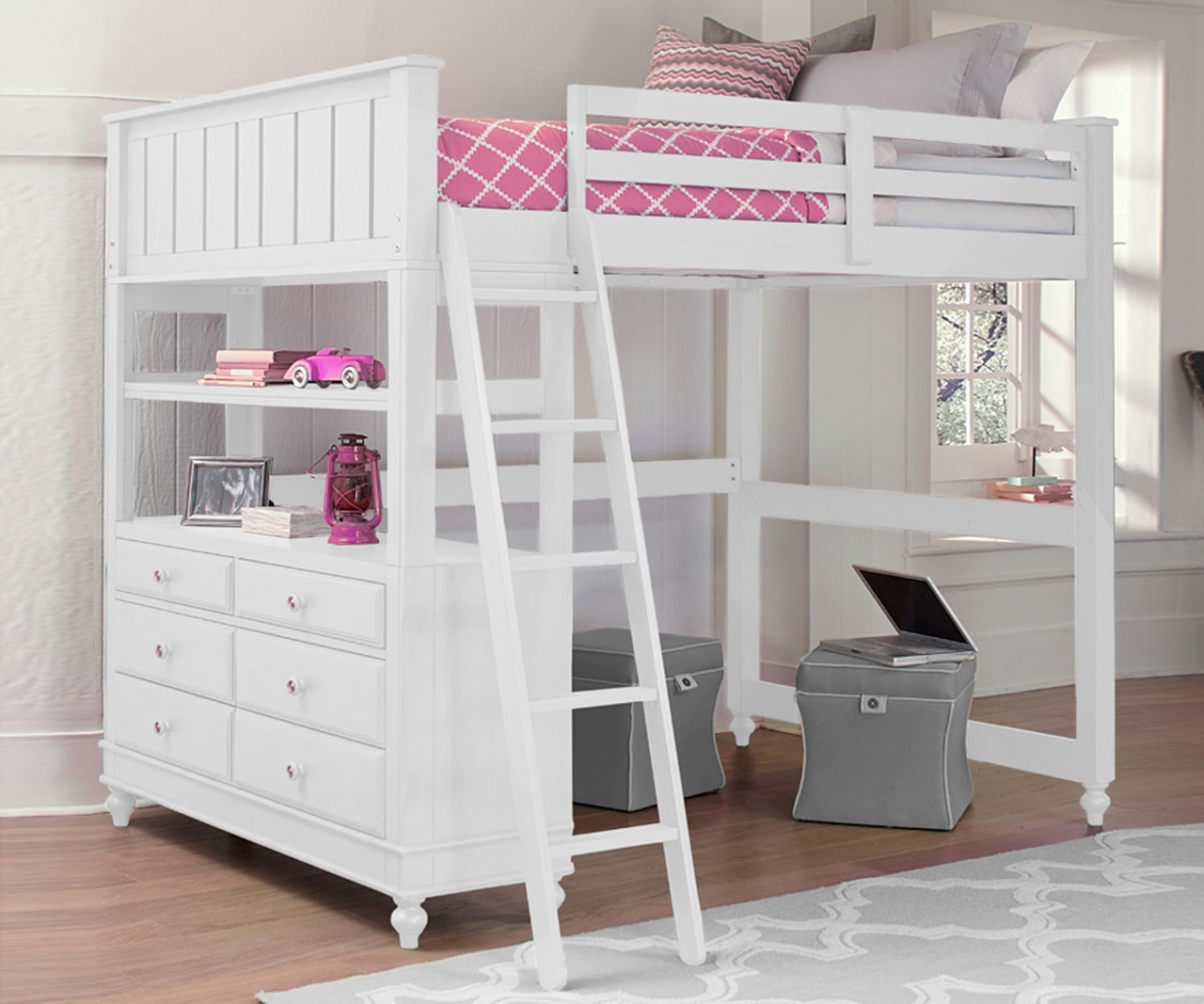 Kids Furniture Lakehouse Loft Bed Full White