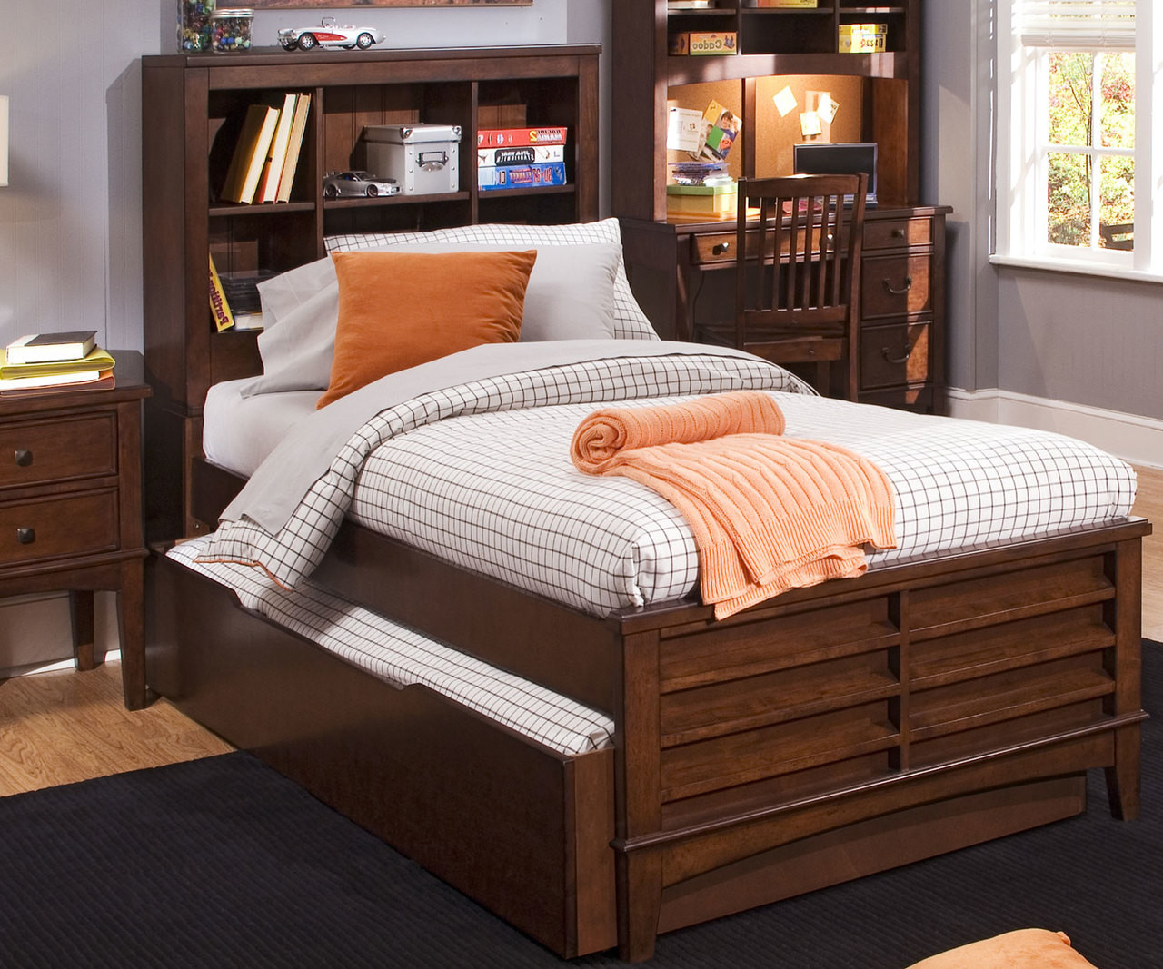 Bookcase Bed Chelsea Square Bookcase Bed With Trundle Full Size