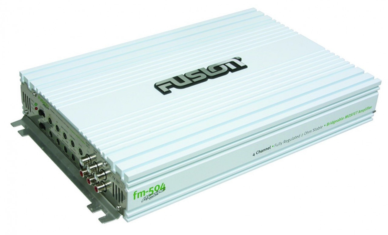 500 Watt Fusion Fm 504 4 Channel 500 Watt Marine Amplifier