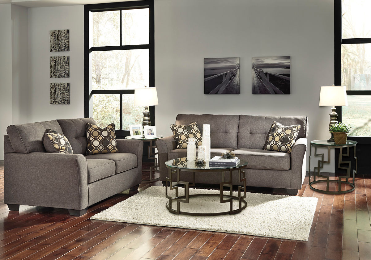 Couch Couch Ashley Tibbee Slate Sofa Couch Loveseat Frostine Table Set