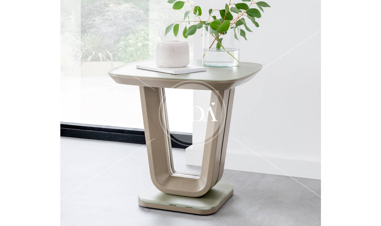 Glass Lamp Tables Ireland Lazzaro Cappucino Lamp Table Ideal Furniture