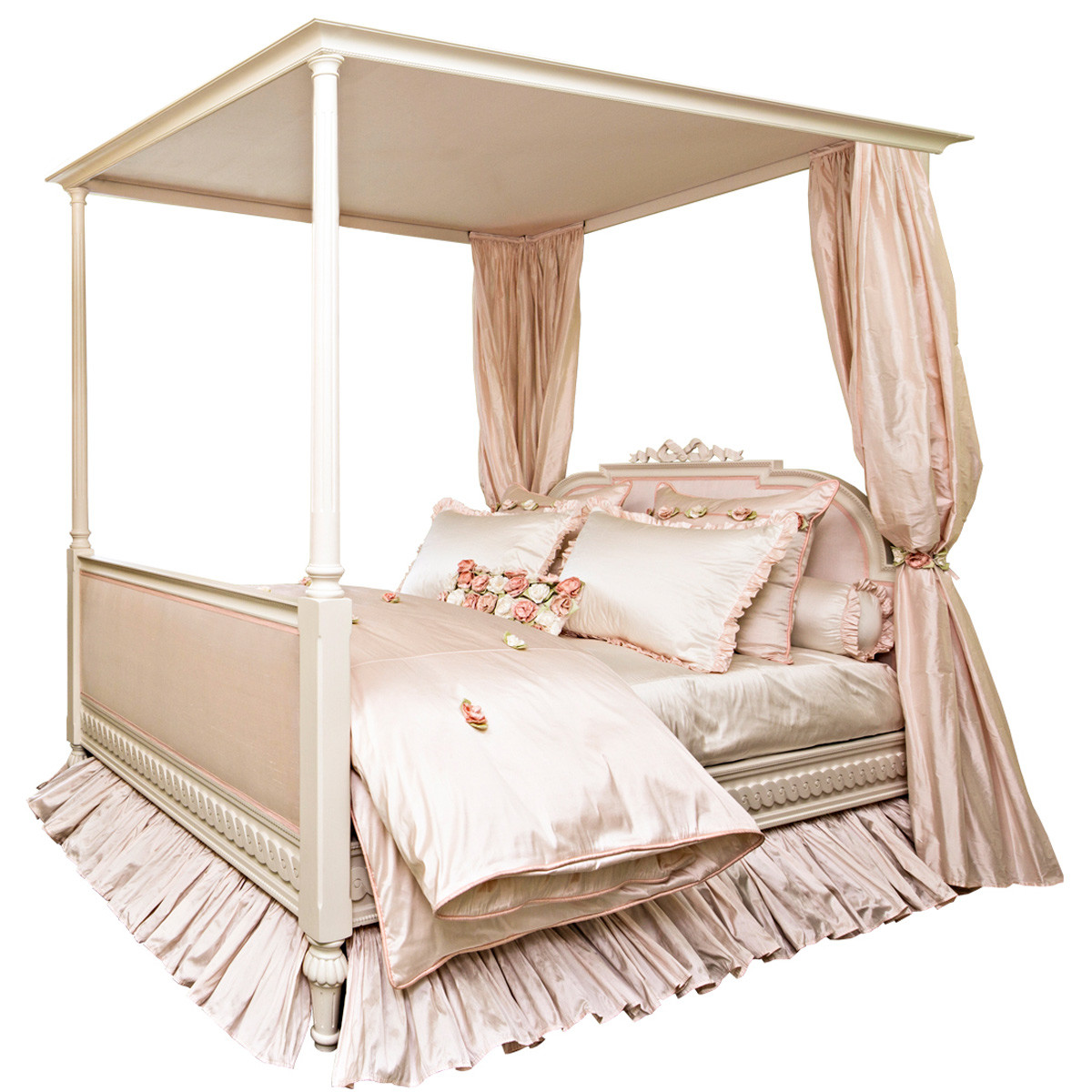 4post Bed Custom Gustavian Style Princess 4 Post Bed W Canopy Zoyab