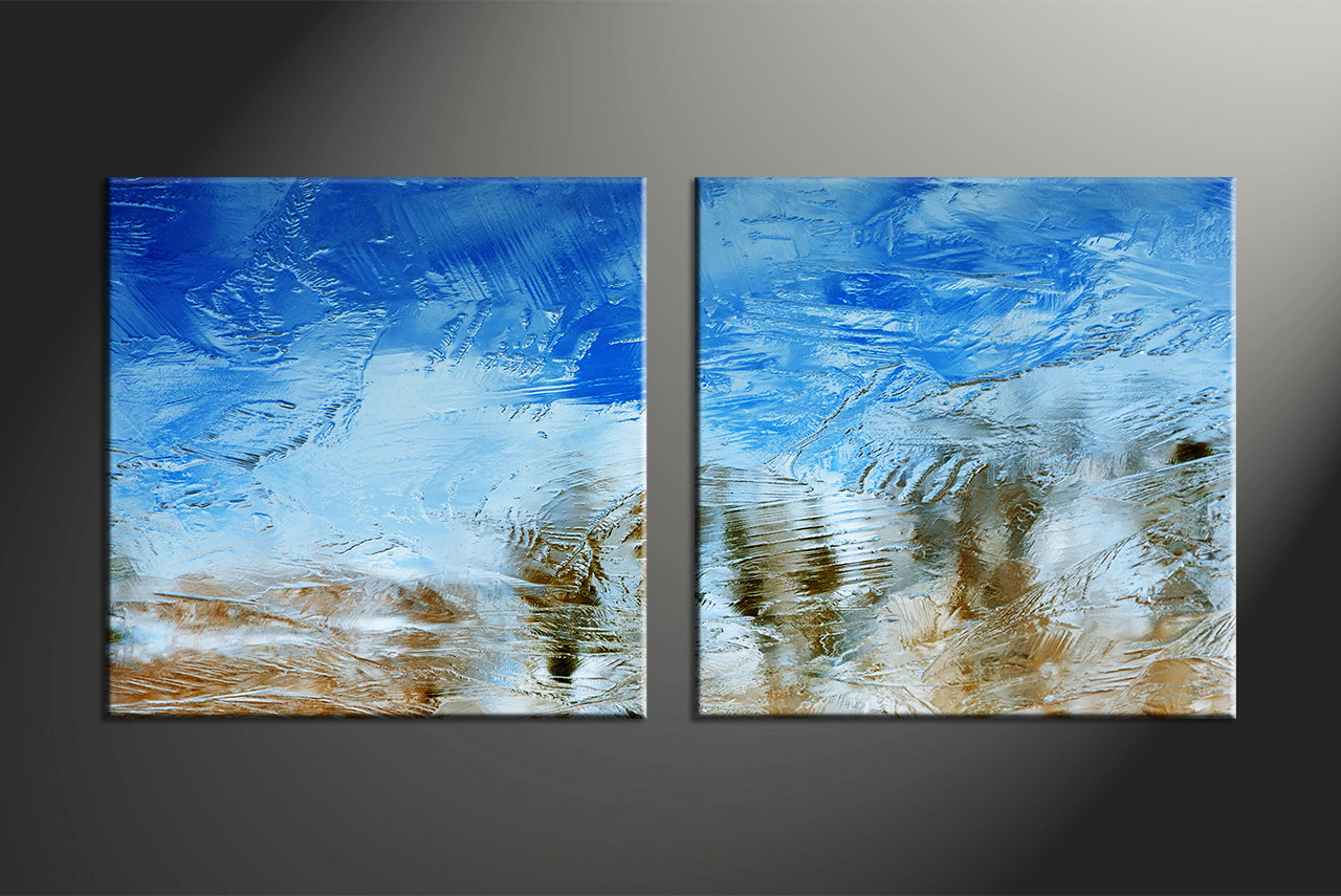 Abstract Art Prints On Canvas 2 Piece Canvas Blue Abstract Art Buy Canvas Prints Art Online