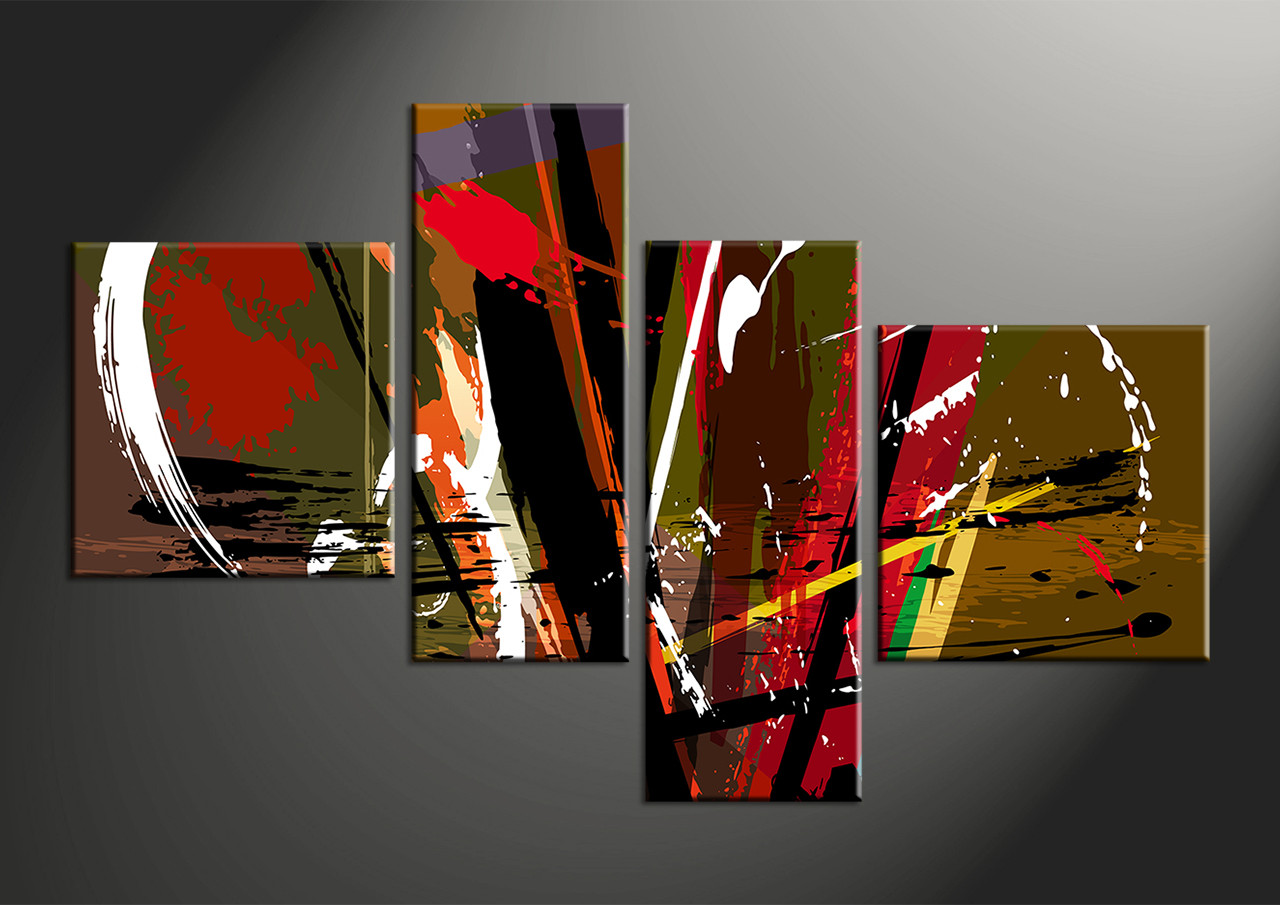 Home Decor Paintings 4 Piece Colorful Abstract Home Decor Photo Canvas
