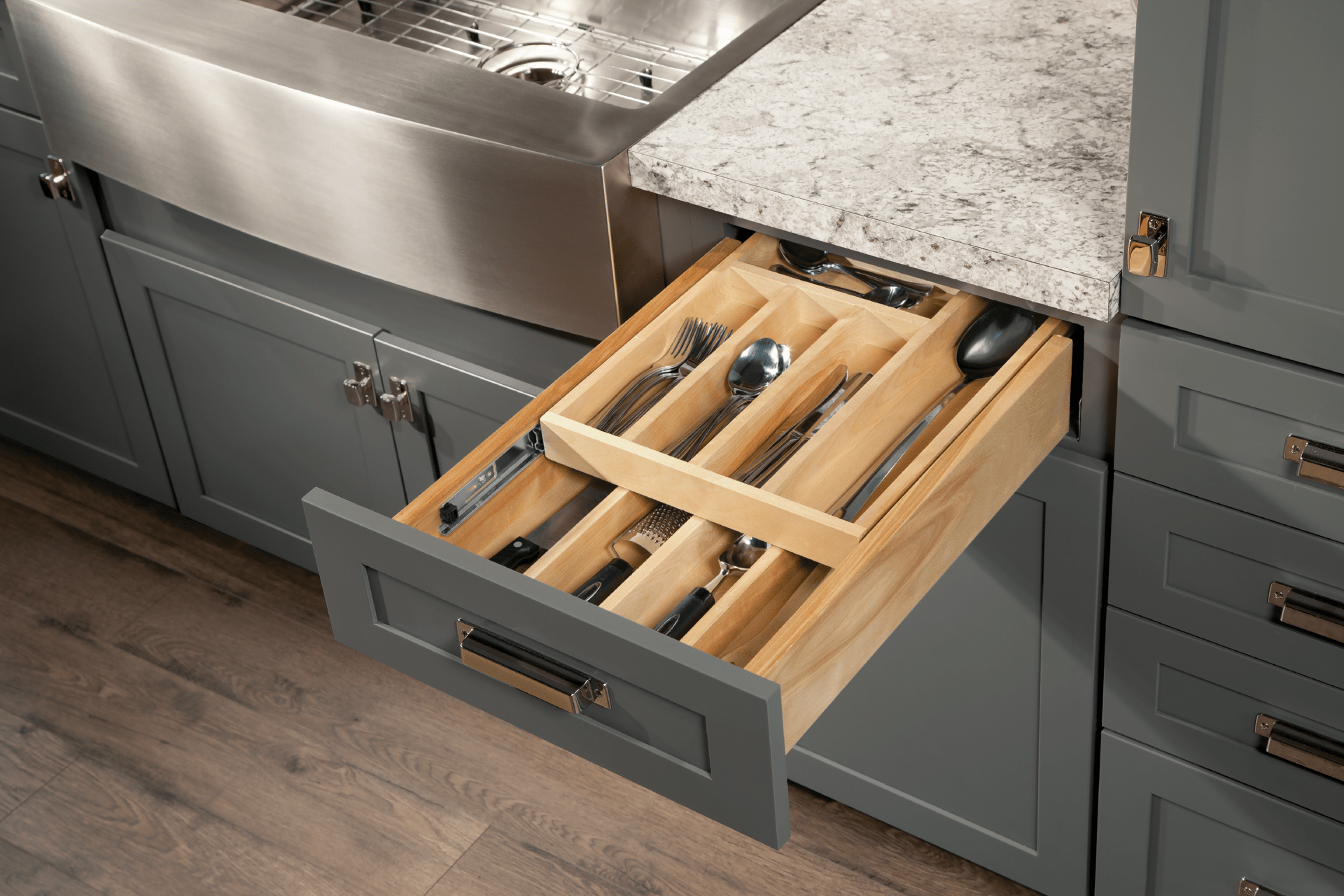 Kitchen Cabinet Drawers Wood Tiered Drawer Storage Cardell Kitchen Cabinet Accessories
