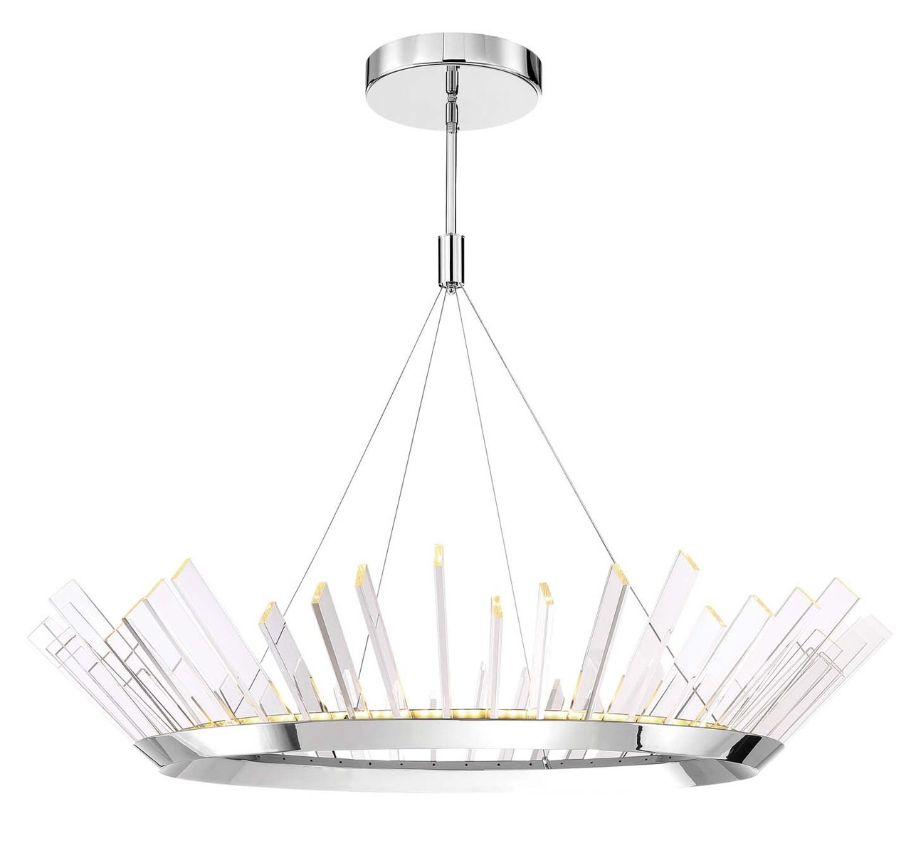 Led Chandelier Zeev Lighting Halo Collection Stainless Steel Led Chandelier Cd10154 Led Ss