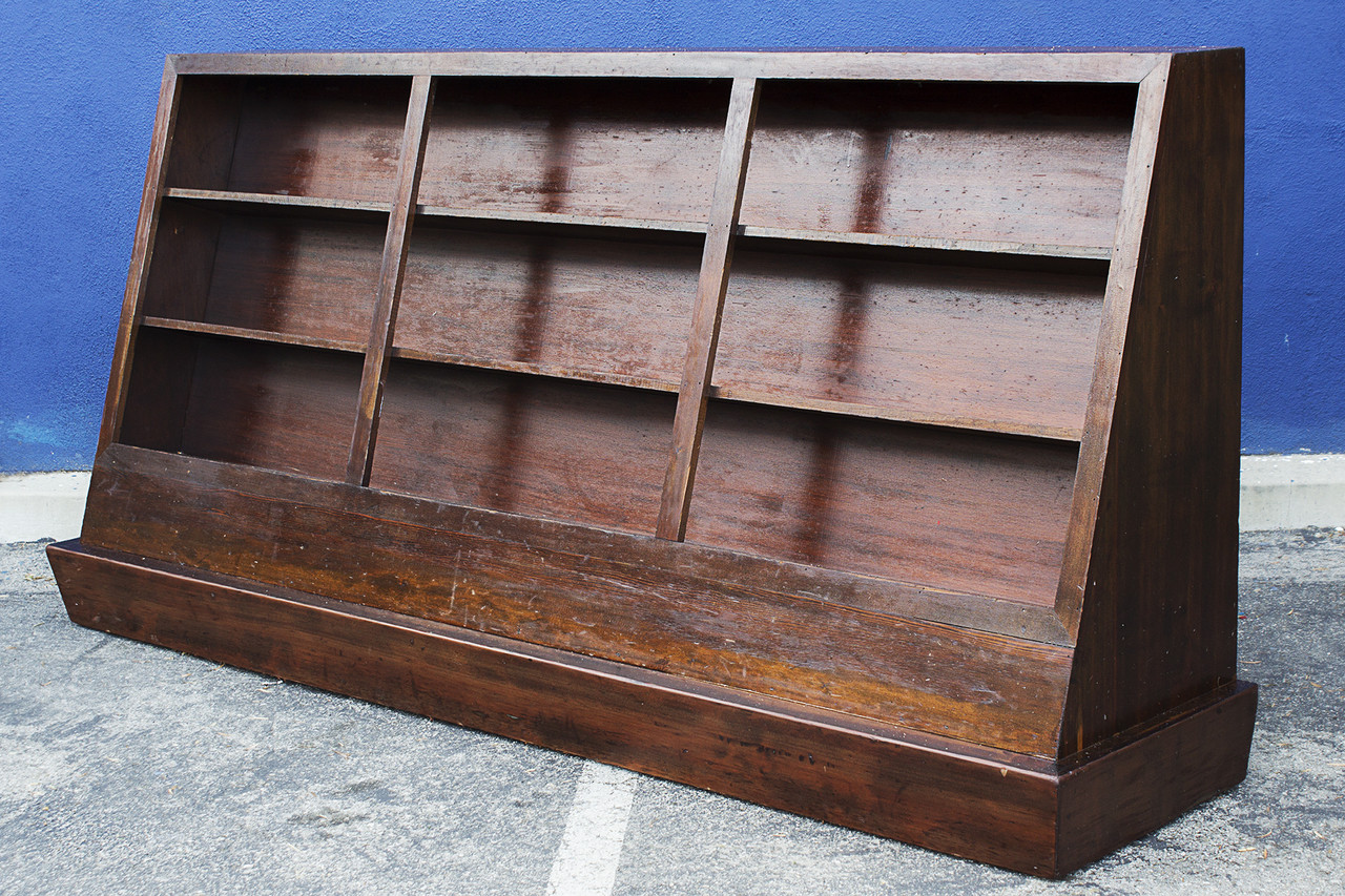 Vintage Bookcase Sold Large Vintage Bookcase On Casters Circa 1950s