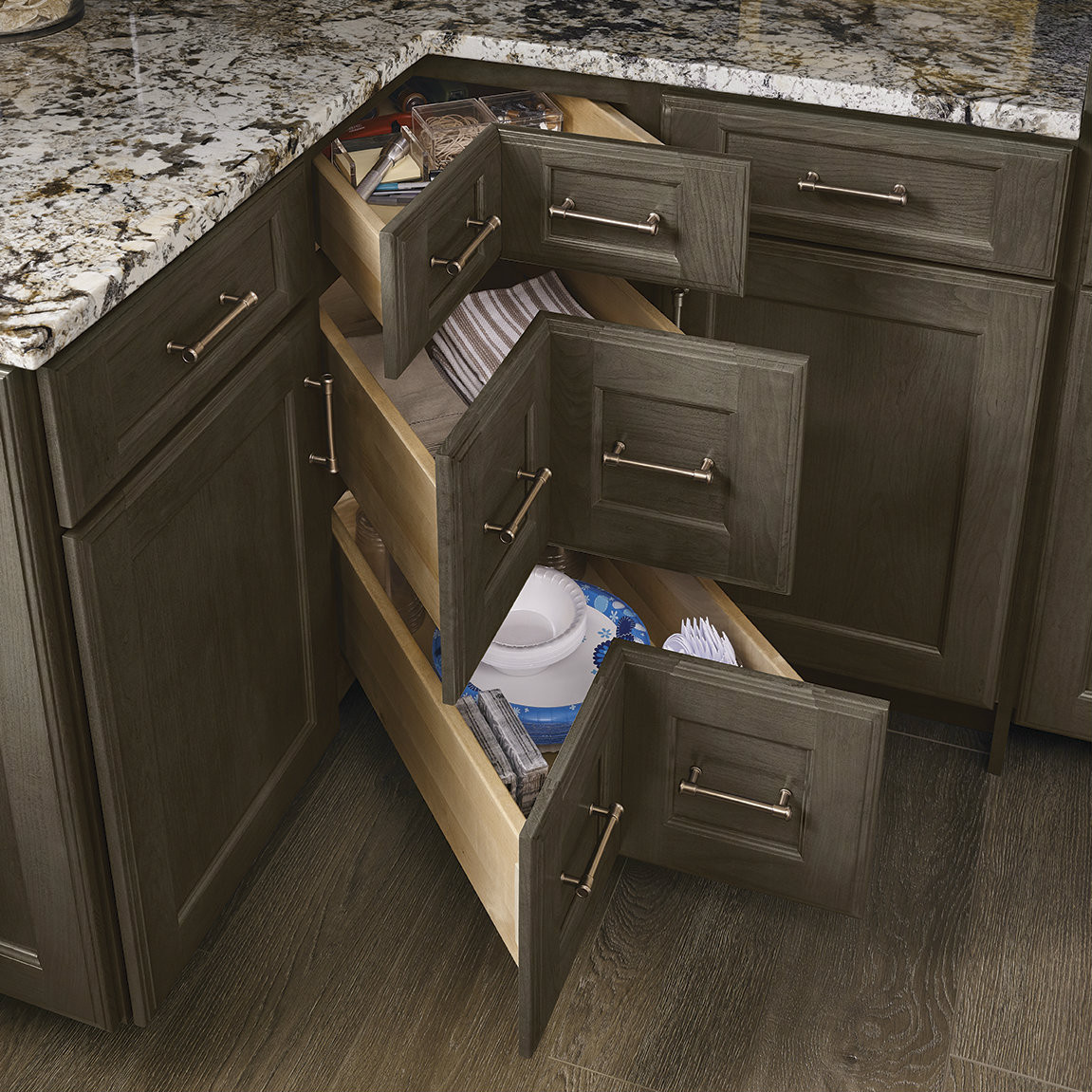 Corner Drawer Kitchen Cabinet Corner Drawers Kraftmaid