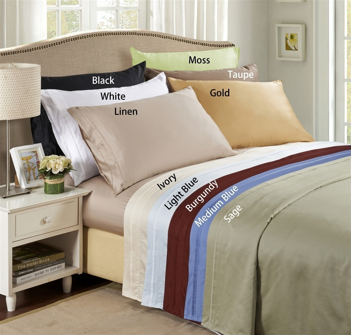 100 Egyptian Cotton Sheets Lido Collection 600 Thread Count Egyptian Cotton California King Bed Sheets