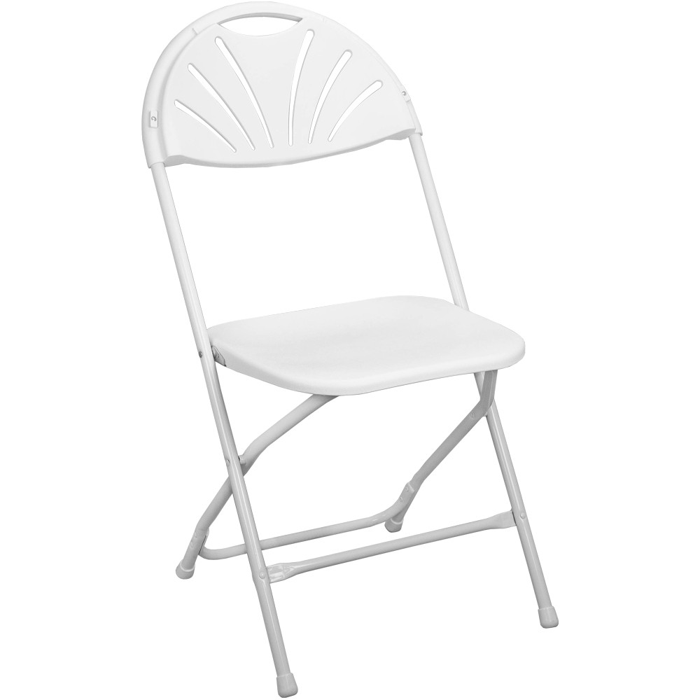 Chairs Folding White Fan Back Plastic Folding Chair Ppfcfanback Wht