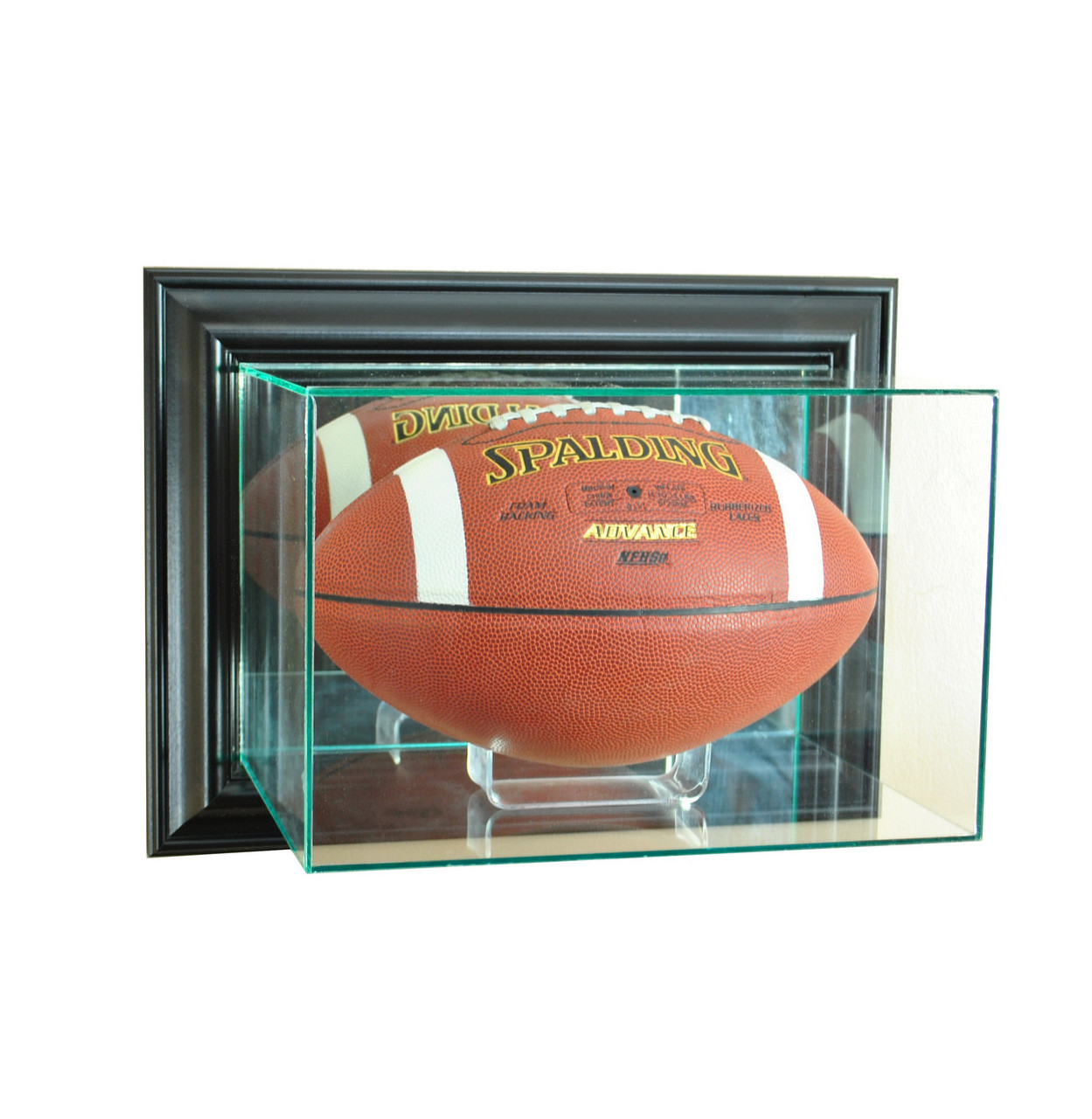 Wall Mounted Display Case Deluxe Real Glass Wall Mounted Football Display Case