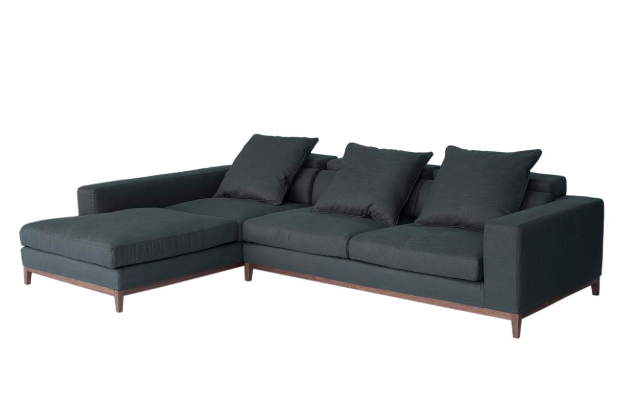 Oslo Ecksofa Oslo Sofa 3 Seater Long Chaise Left Grey Fine Weave