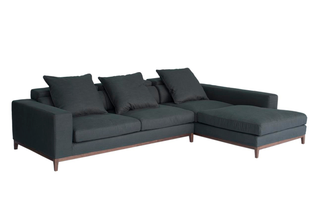 Oslo Ecksofa Oslo Sofa 3 Seater Long Chaise Right Grey Fine Weave