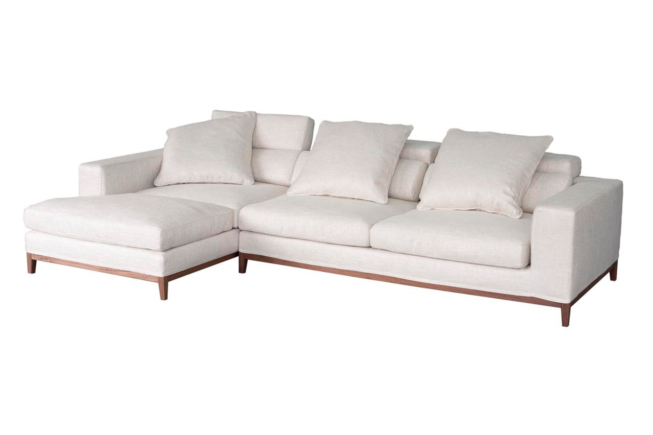Oslo Ecksofa Oslo Sofa 3 Seater Compact Chaise Left Cream Soft To The Touch