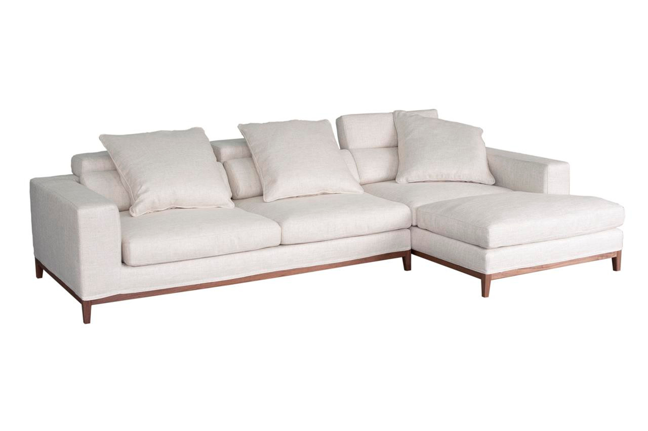 Oslo Ecksofa Oslo Sofa 3 Seater Compact Chaise Right Cream Soft To The Touch