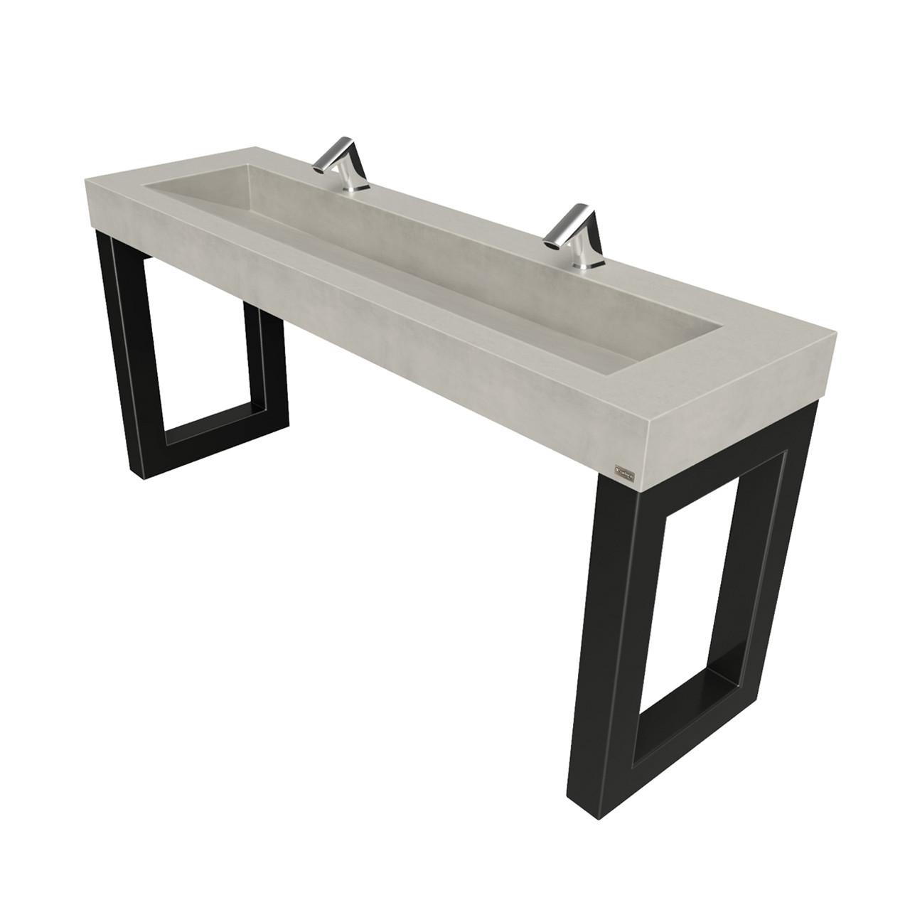 Ada Sofa Hudson Zen Ada 2 Station Commercial Concrete Washstand