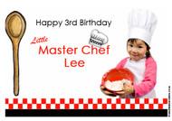 Master Chef Inspired Kids Birthday Invitations Cooking