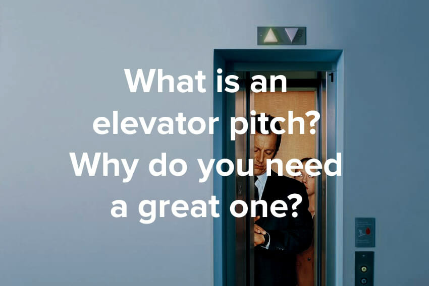 What is an elevator pitch? Why do you need a great one? - Name Blog