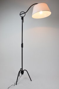 Vintage Adjustable Iron Floor Lamp, 1940s for sale at Pamono