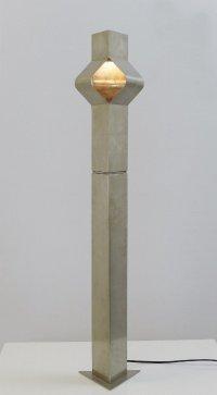 Vintage Square Brushed Chrome Floor Lamp, 1970s for sale ...