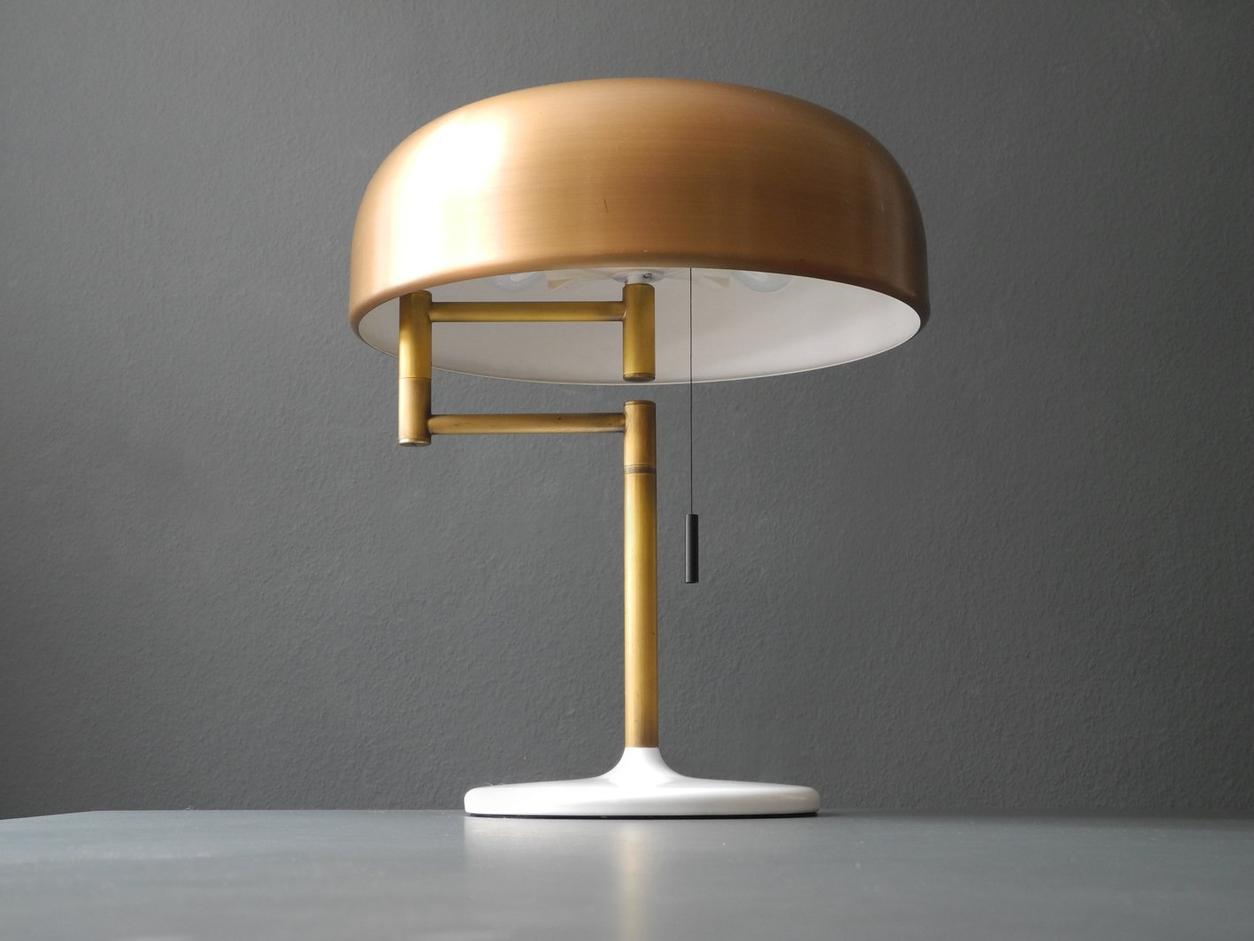 Table Lamp with Brass Shade from Staff, 1960s for sale at