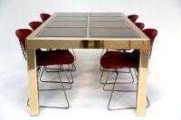 Mid-Century Extendable Brass Dining Table from Mastercraft ...