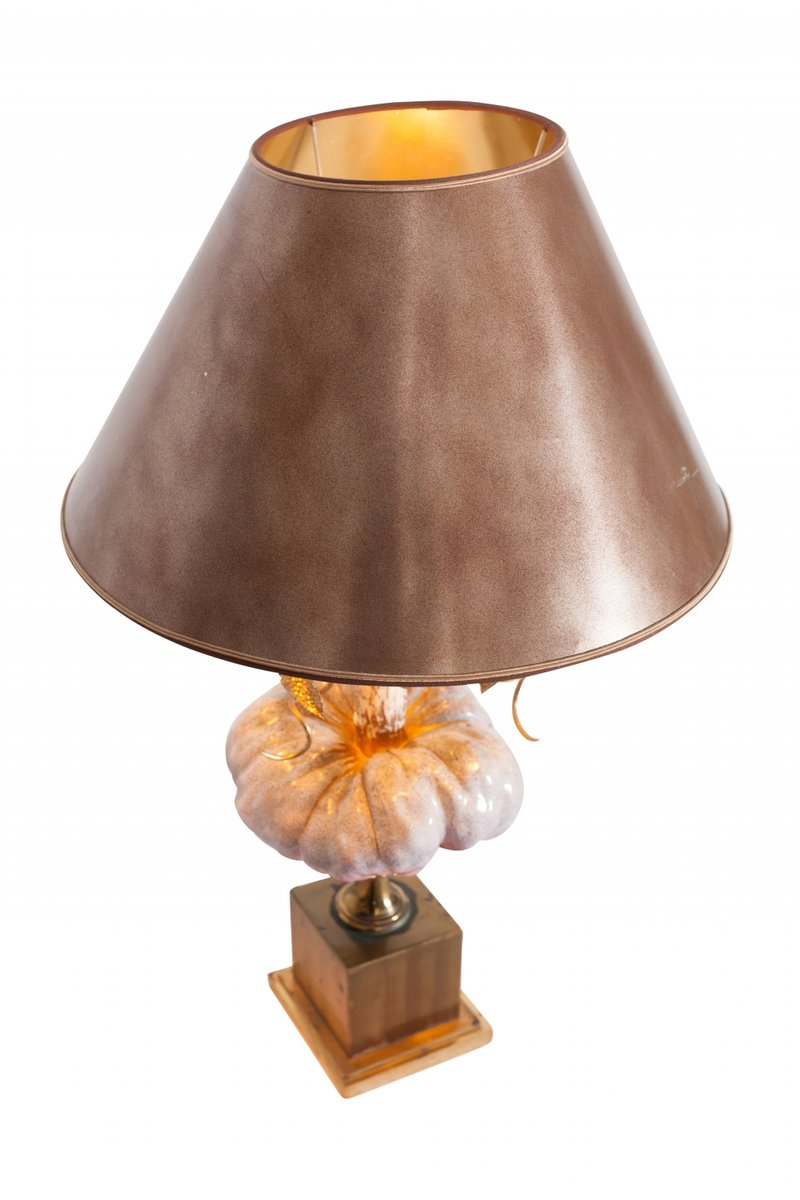 Messing Lampe Vintage Hollywood Regency Porzellan Messing Lampe