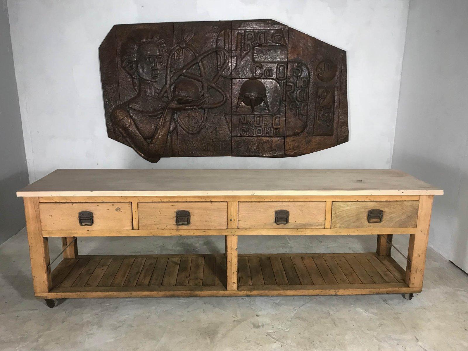 Credenza Shabby Con Rete : Cucina economica vintage console in legno panna dresser