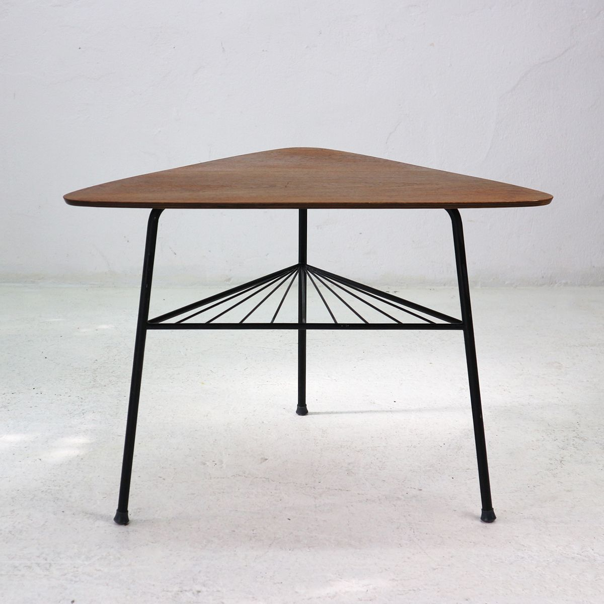 Vintage Couchtisch 50er Vintage Teak Tripod Side Table 1950s