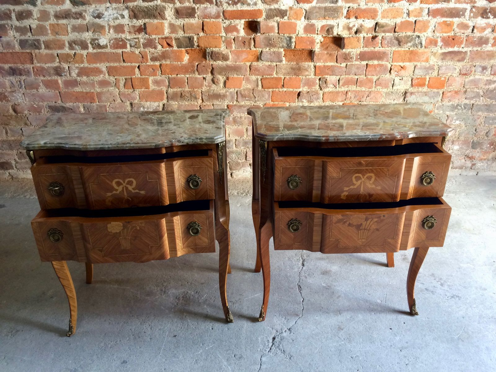 Commodes Louis 15 French Louis Xv Style Kingwood Commodes 1950s Set Of 2