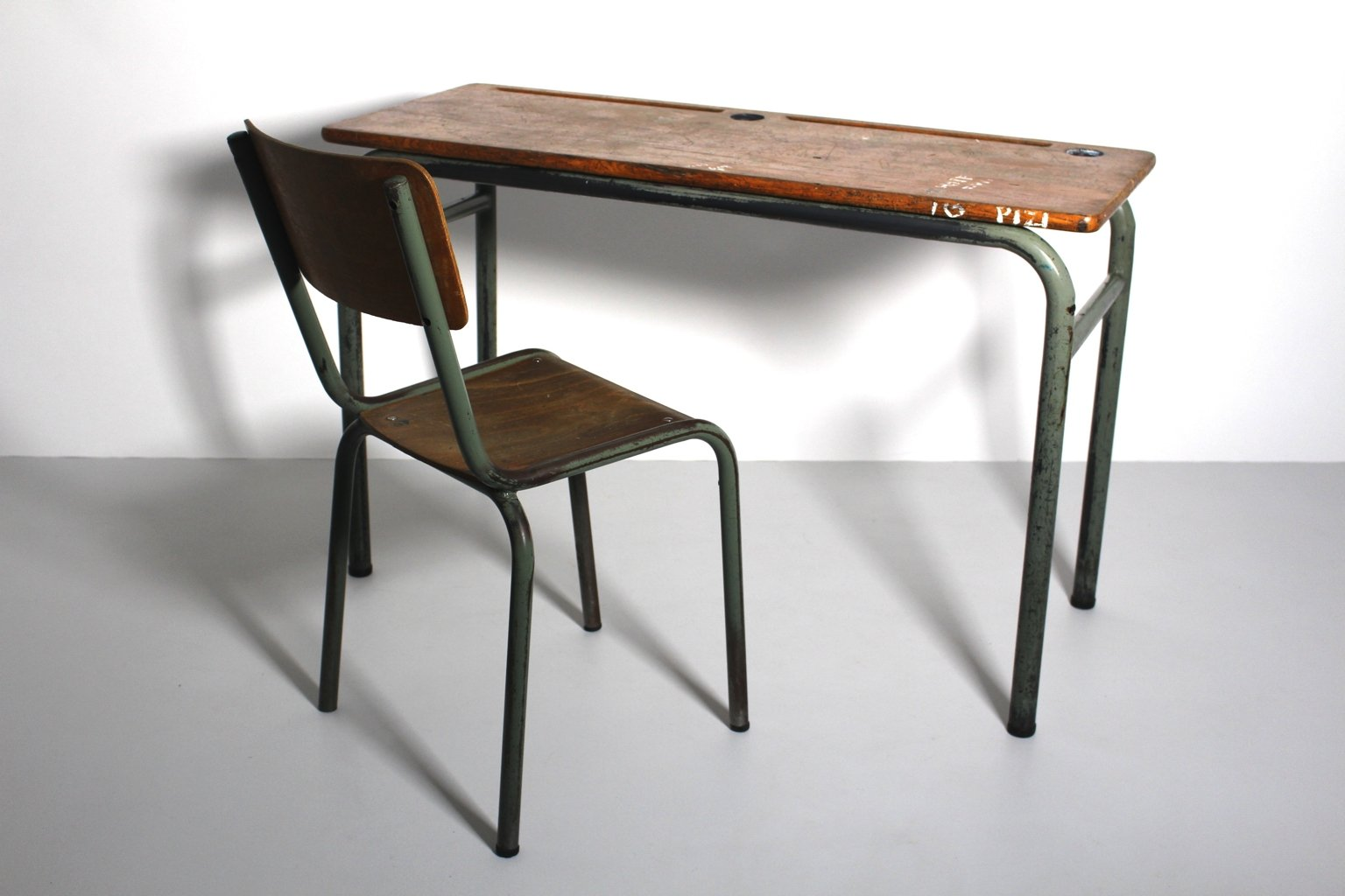 Vintage Industrial Style Vintage Industrial Style Desk And Chair 1940s Set Of 2