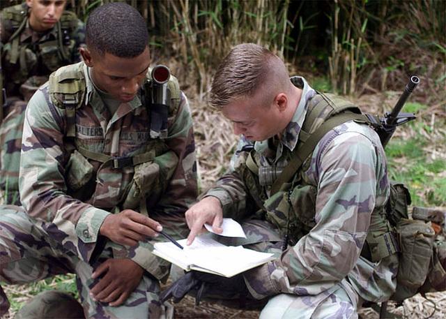 US Marine Corps Sergeant (SGT) Jason Kasper and Corporal (CPL) Paul