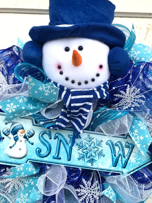 Baby Bags On Sale Frosty Blue Snowman Wreath