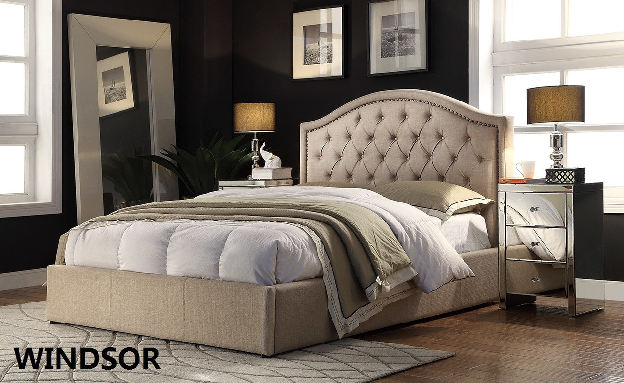 Fabric Bed Frames Queen Fabric Bed Frame Windsor