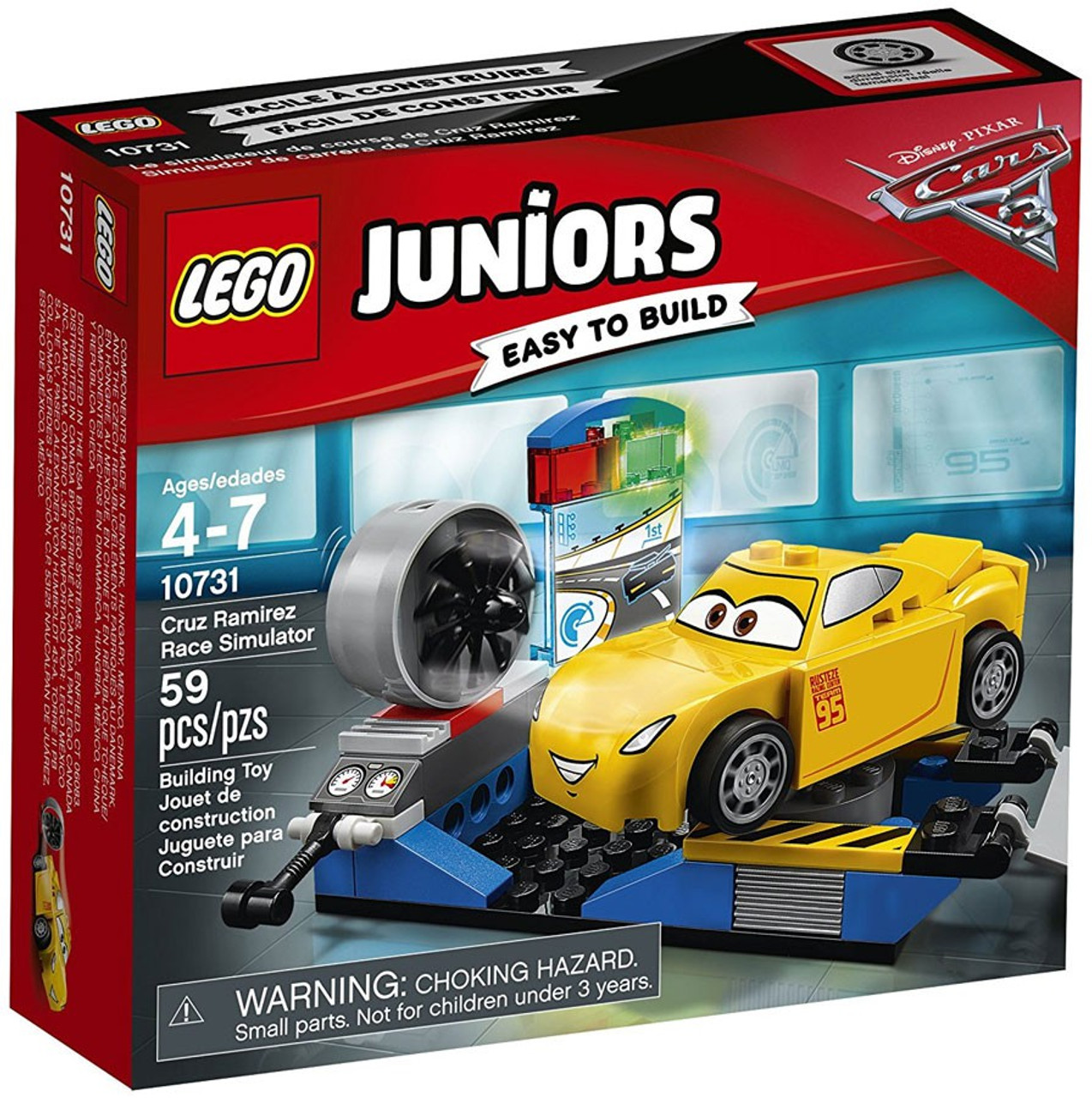 Cars 3 Jackson Storm Jouet Lego Disney Pixar Cars Cars 3 Juniors Cruz Ramirez Race Simulator Set 10731